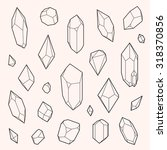 set of vector crystal shapes ... | Shutterstock .eps vector #318370856