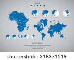 world map. vector | Shutterstock .eps vector #318371519