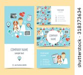 set of flyer  brochure and... | Shutterstock .eps vector #318373634