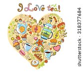 colorful vector heart  made of... | Shutterstock .eps vector #318377684