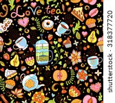 seamless vector pattern with... | Shutterstock .eps vector #318377720