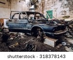 Old Wrecked Car Inside Of...