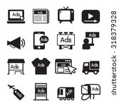 advertise icon set | Shutterstock .eps vector #318379328