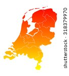 map of the netherlands | Shutterstock .eps vector #318379970