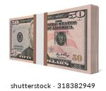 pack of banknotes. fifty...   Shutterstock . vector #318382949