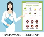 asian woman doctor... | Shutterstock .eps vector #318383234