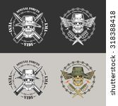 military vector emblem with... | Shutterstock .eps vector #318388418