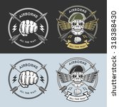 airborne vector emblems with... | Shutterstock .eps vector #318388430