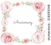 flower wedding invitation card  ... | Shutterstock . vector #318393548