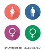 gender symbols flat design... | Shutterstock .eps vector #318398780