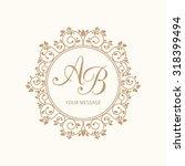elegant floral monogram design... | Shutterstock . vector #318399494