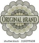original brand rosette | Shutterstock .eps vector #318399608