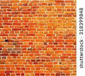 wall brick  orange brick is not ... | Shutterstock .eps vector #318399848