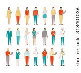 thin line male and female...   Shutterstock .eps vector #318401036