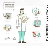 professional doctor infographic ... | Shutterstock .eps vector #318401486