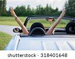 beautiful young woman in... | Shutterstock . vector #318401648