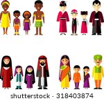 vector illustration of african ... | Shutterstock .eps vector #318403874