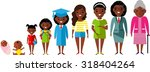 all age group of african... | Shutterstock .eps vector #318404264
