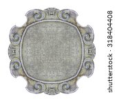 Old Carved Stone Frame On Whit...
