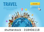 travel. famous monuments of the ...