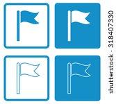 flag icon . vector illustration | Shutterstock .eps vector #318407330