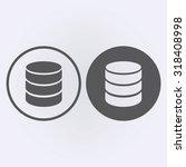 database icon . vector...