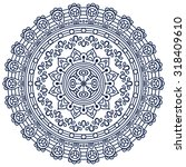 mandala. vintage decorative... | Shutterstock .eps vector #318409610