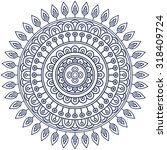 mandala. vintage decorative... | Shutterstock .eps vector #318409724