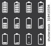 battery icons set . vector... | Shutterstock .eps vector #318410534