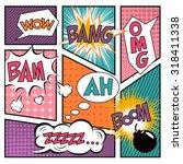 comics. design elements. vector ... | Shutterstock .eps vector #318411338