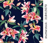 seamless floral pattern of... | Shutterstock . vector #318415070
