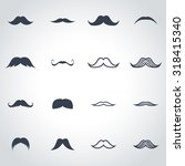 Vector Black Moustaches Icon...
