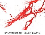 blood splatter or stain... | Shutterstock . vector #318416243