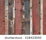 wooden fence colorful... | Shutterstock . vector #318423050
