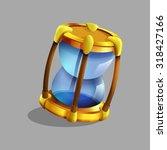 cartoon hourglass. vector...