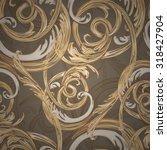 decorative seamless pattern ... | Shutterstock .eps vector #318427904