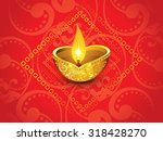 abstract artistic red golden... | Shutterstock .eps vector #318428270