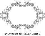 orient acanthus art  fine... | Shutterstock .eps vector #318428858
