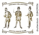 Vintage Hand Drawn Gentlemen...