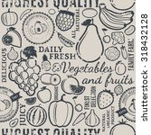 typographic vector fruits and... | Shutterstock .eps vector #318432128