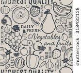 typographic vector fruits and... | Shutterstock .eps vector #318432128