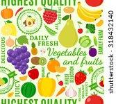 typographic vector fruits and... | Shutterstock .eps vector #318432140
