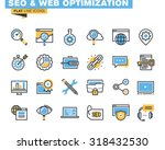 trendy flat line icon pack for... | Shutterstock .eps vector #318432530