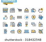 Trendy flat line icon pack for designers and developers. Icons for shopping, e-commerce, m-commerce, delivery, for websites and mobile websites and apps.  | Shutterstock vector #318432548