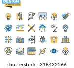 trendy flat line icon pack.... | Shutterstock .eps vector #318432566