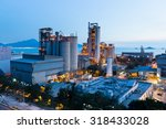 cement factory exposed in the... | Shutterstock . vector #318433028