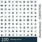 money 100 icons universal set... | Shutterstock . vector #318437540