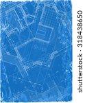 architecture blueprint   3d... | Shutterstock .eps vector #318438650
