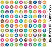 hotel 100 icons universal set... | Shutterstock . vector #318440528