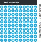 love 100 icons universal set... | Shutterstock . vector #318442190
